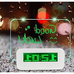 Alarm Clock With Message Board , Plastic And Acrylic Table C
