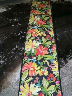 "Banquet Table Wild Floral Extra Long Table Runner 16"" x 110"""