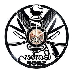 Barber Shop Vinyl Record Wall Clock - Bathroom wall decor -