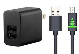 Generic Nook Color Dual Port 2.1 Amp Wall Charger with 2.5 F