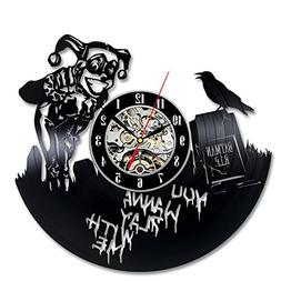 Batman And Harley Quinn Vinyl Record Clock DC Comics Wall Ar
