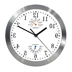 Magho Battery Operated Silent Non-ticking Indoor Wall Clock