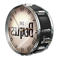The Beatles Black Pearl Drum Wall Clock by The Bradford Exch