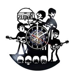 The Beatles Best Design Wall Clock Made From Used Vinyl Reco