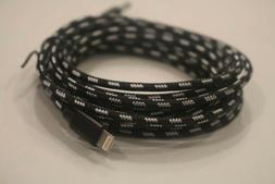 Black 10 ft extra long Heavy Duty USB data Cable Charging co