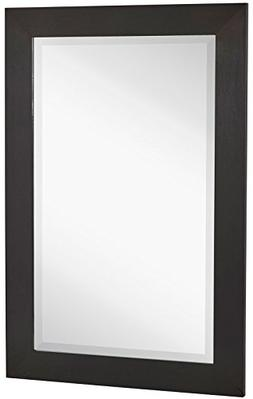 NEW Black Modern Metallic Look Rectangle Wall Mirror | Brush