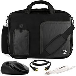 VanGoddy Black Trim Laptop Bag w/ Accessory Bundle for ASUS