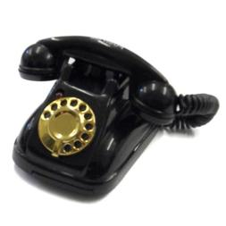 Acme Black Vintage Retro Style Phone Magnet With Ringing Sou
