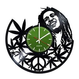 Bob Marley Design Vinyl Record Wall Clock - Gift Idea for bo