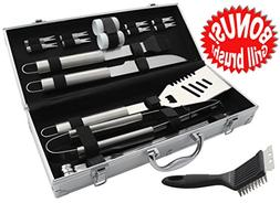 ROMANTICIST 21Pc Heavy Duty Stainless Steel BBQ Grill Tool A