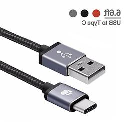 Braided USB Type C Cable, BlitzWolf 6 ft Reversible USB 2.0