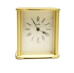 Brass Table Clock Desk Clock Made In Germany Heavy Brass Cas