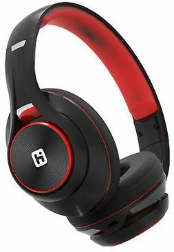 iHome BT Headphones Extra Long Battery+Mic Black/Red