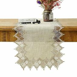 Burlap Table Runner, Extra Long Size 108x16 inches, Decorati