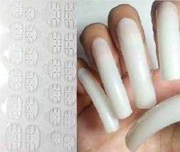 BUY2GET1FREE! EXTRA LONG NATURAL Nails w/ Glue Stickers Fals