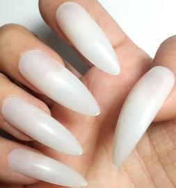 ~BUY2GET1FREE! EXTRA LONG NATURAL STILETTO Nails 20pc False