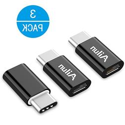 Type C Adapter,Micro USB to USB C Adapter,,by Ailun,Data Syn