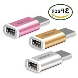 Type C Adapter, TekSonic  USB-C to Micro USB Adapter  Sync a