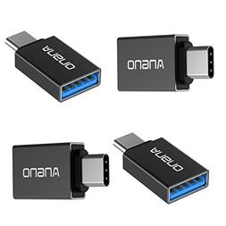 angno 4 Pack TYPE-C To USB3.0 Adapter with OTG Function For