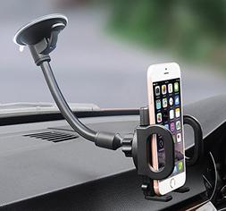 Car Mount, X-AUTO One Touch Flexible Arm Universal Windshiel