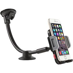 Car Mount Holder, Universal Windshield Long Arm Car Phone Ho
