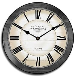 Carolina Gray Wall Clock, Available in 8 sizes, Most Sizes S
