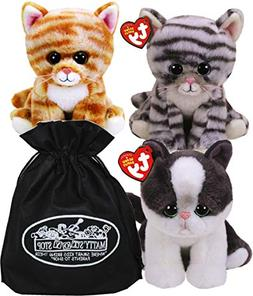 Ty Beanie Babies Cats Cleo, Yang & Millie Gift Set Bundle wi
