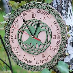 Celtic meal times wooden wall clock unique kitchen vintage s