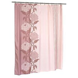 Chelsea Extra Long Polyester Fabric Shower Curtain, Nature /
