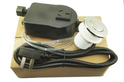 Chrome Sink Top Air Switch Kit, Garbage Disposal Part Built-