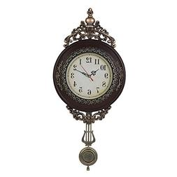 Giftgarden Retro Wall Clock Hand Painted Arts