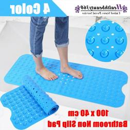 Large Clear Blue Bath Mat Non Slip Anti Skid Rubber Shower T