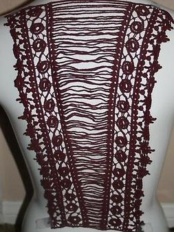 Clearance $1 Extra Long BURGUNDY Maroon Wine Large bodice ba
