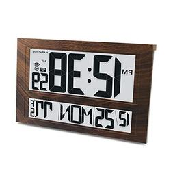 Large Digital Clock 6 Time Zones Wall Mount Watch Battery Of