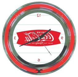 "Coca-Cola ""Refreshing New Feeling"" Chrome Double Ring Neon C"