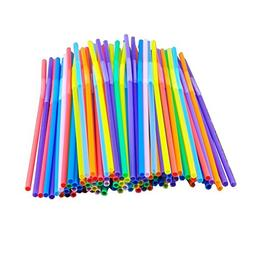Colorful Extra Long Flexible Bendy Party Disposabl Drinking