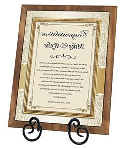 Congratulation New Homeowners Housewarming Gift Poem 8x10 Wa