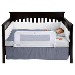 hiccapop Convertible Crib Toddler Bed Rail Guard with Reinfo