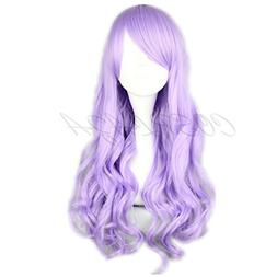Cosplay Wig light Purple Long Wavy Curly Anime Show Party Ha