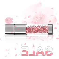 TECHKEY Jewelry Crystal USB Flash Drive for Girls, with 2 in