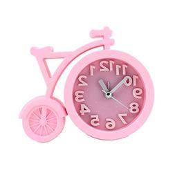 Cute Alarm Clock for Girls/Teens Pink With Silent Quartz Mov