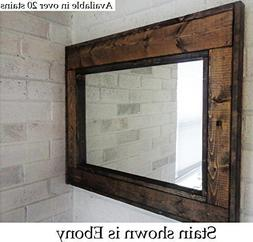 Renewed Décor Herringbone Reclaimed Wood Mirror in 20 stain