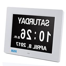 Dxmart Digital Day Clock Dementia Clock with Extra Large Non