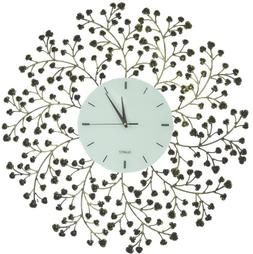 Lulu Decor, Spring Blooms, Lines Dial, Decorative Metal Wall