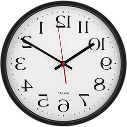 Large Decorative Wall Clock - Universal Non - Ticking & Sile