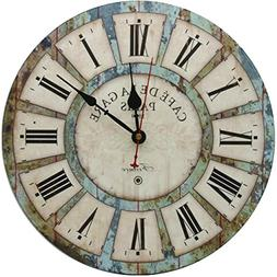 RELIAN Decorative Wall Clock,Silent Wall Clock Non Ticking B