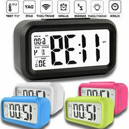 Digital Sensor Automatic Soft Light Snooze Desk Alarm Clock