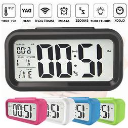 Digital Snooze LED Alarm Clock Backlight Time Calendar Therm
