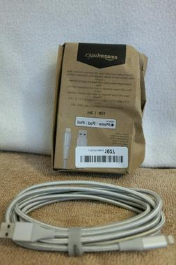 AmazonBasics Double Braided Nylon Lightning to USB A Cable,