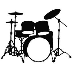 Drum Set - Tribal Decal  Vinyl Sticker for Car, Ipad, Laptop